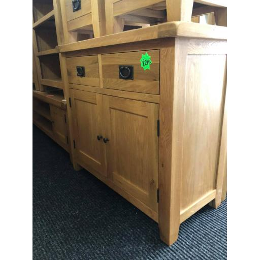 Real Oak 2 Door 2 Drawer Sideboard