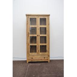 Reclaimed 2 Door - 1 Drawer Display Cabinet 1.jpg