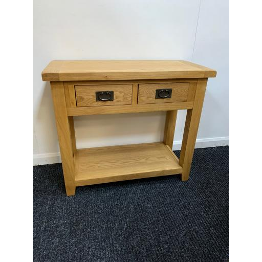 Real Oak Console Table