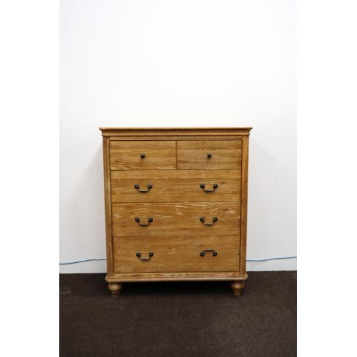 Washed Oak chest of drawers