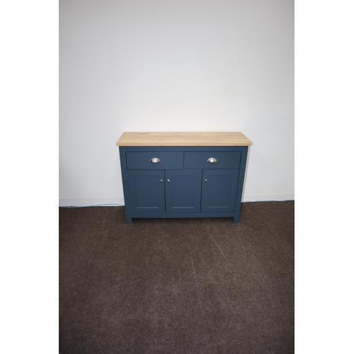 Hadley 3 Door 2 drawer Sideboard with Metal handlesaqua blue