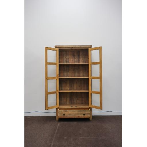 Reclaimed 2 Door - 1 Drawer Display Cabinet 2.jpg