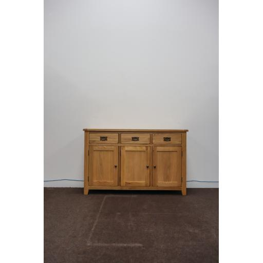 Melrose Natural Oak 3 Door Sideboard