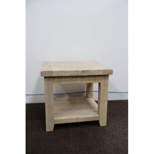 Lamp Table in Grey Wash Reclaimed Pine