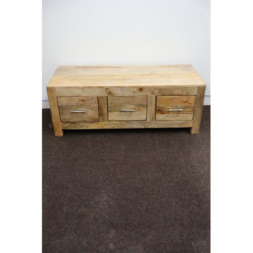 Cuba Petite Mango 3 Drawer Coffee Table