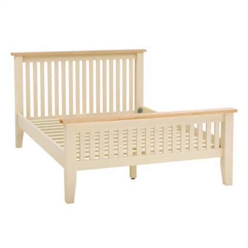 Cream Painted 5ft Kingsize Bed