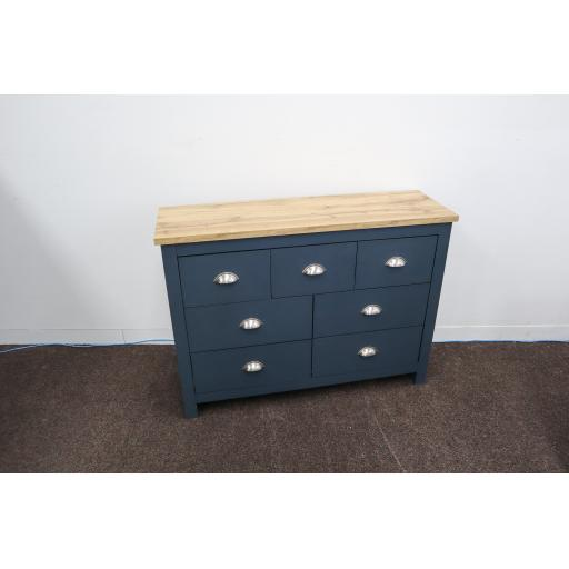 Hadley 7 Drawer Merchants Chest Aqua Blue