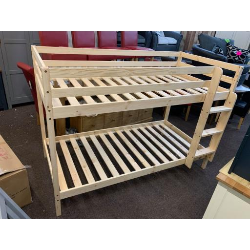 3ft Natural Pine Bunk bed Frame Only