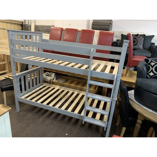 Premium Grey 3ft Pine Bunk beds ( Splits into 2 x 3ft Single beds )