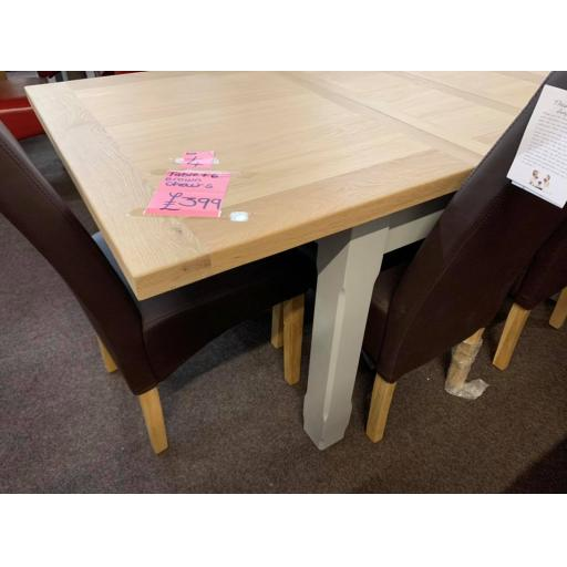 GRET TABLE WITH 6 BROWN CHAIRS