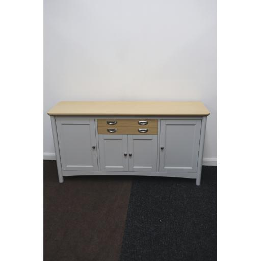 Light Grey 4 Door Sideboard