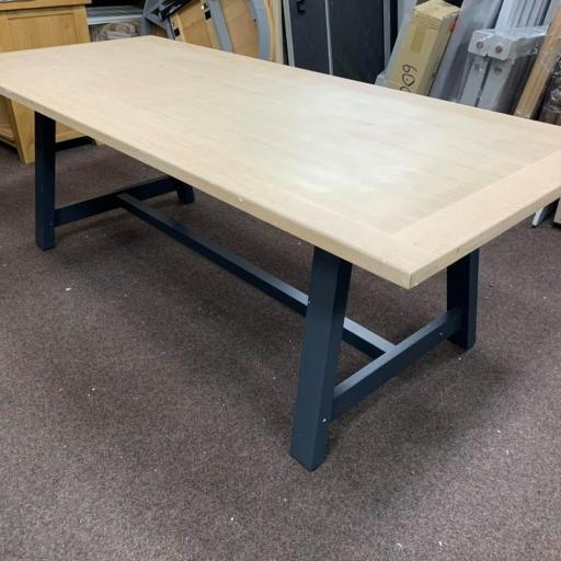 Charcoal Large Trestle Table Only