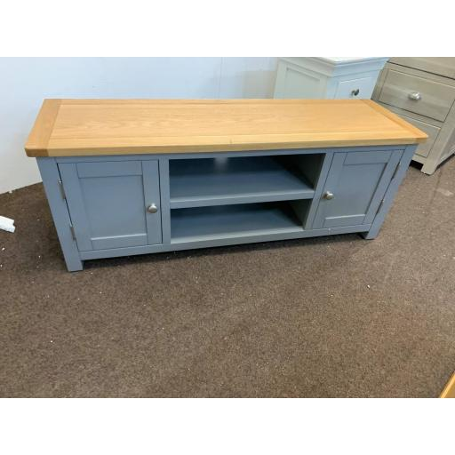 """Grey Widescreen TV Unit - Up to 60"""""""