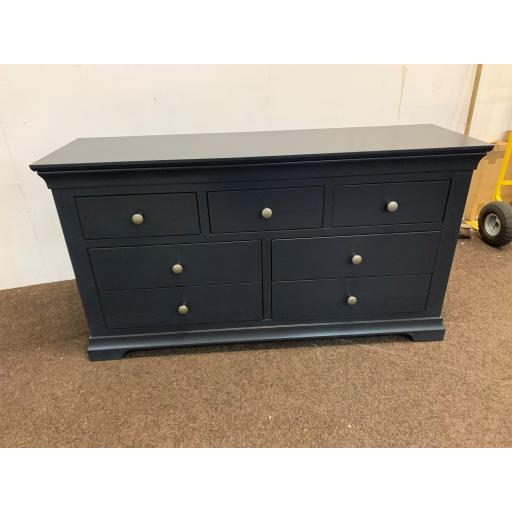 Black 3 Over 4 Chest of Drawers
