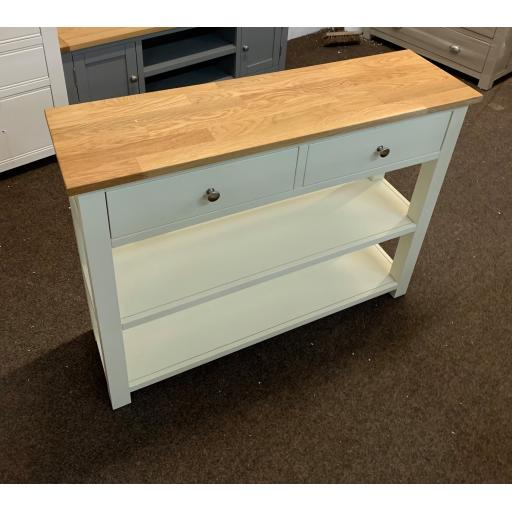Painted Shelved Console Table