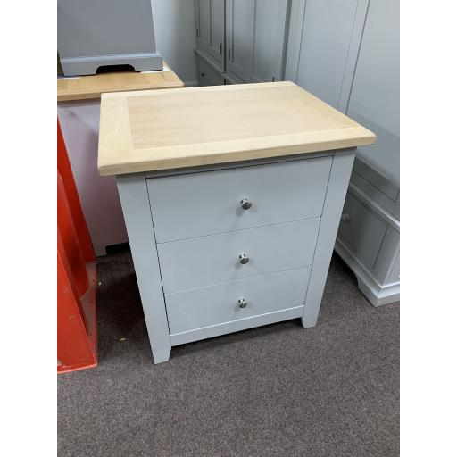 Grey Storage unit with Drawer And Oak Top