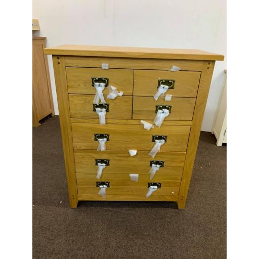 Oak 4 + 2 chest of drawers
