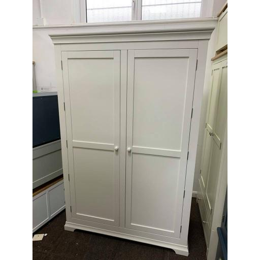 White Grand Double Wardrobe