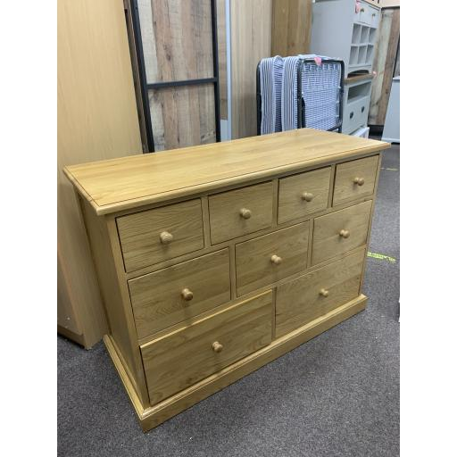 Oak 9 Drawer Chest