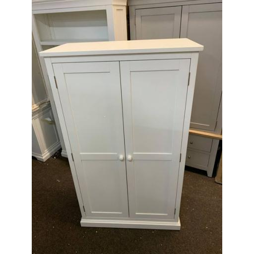 Warm White Painted Double Wardrobe