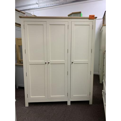 Cream & Oak triple Door wardrobe
