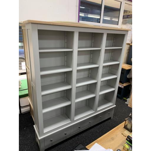 Grey Grand Bookcase