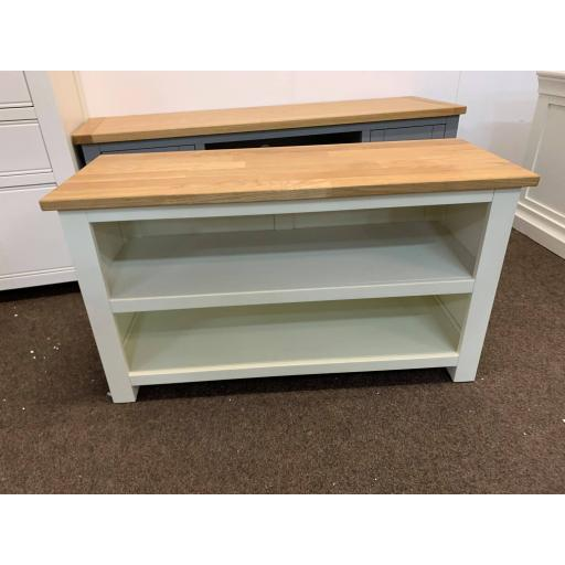 Painted Small Open Shoe Bench
