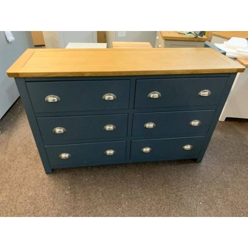 Blue 6 Drawer Wide Chest