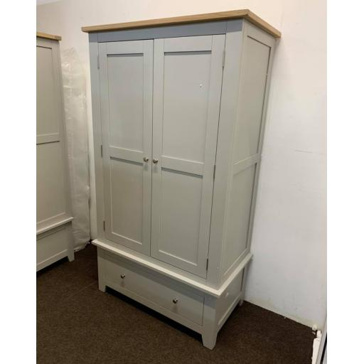 Dove Grey Double Wardrobe