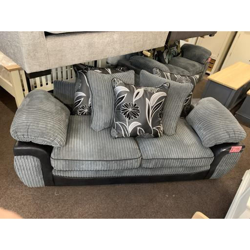 Grey Jumbo cord with scatter cushions