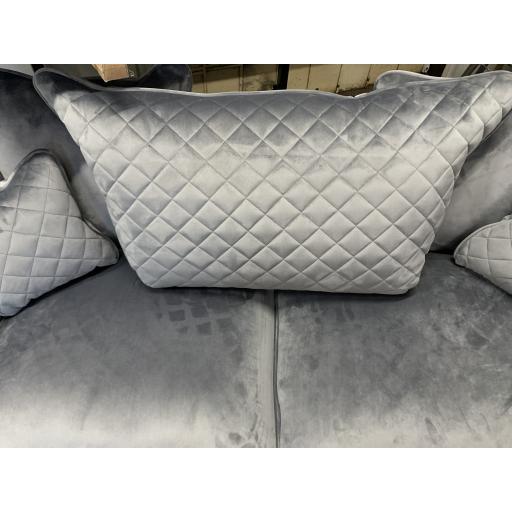Grey Velvet 3 seater sofa