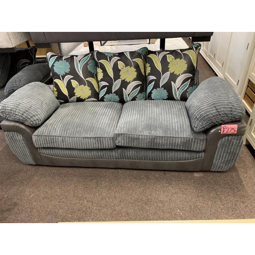 Grey Jumbo cord 3 seater sofa