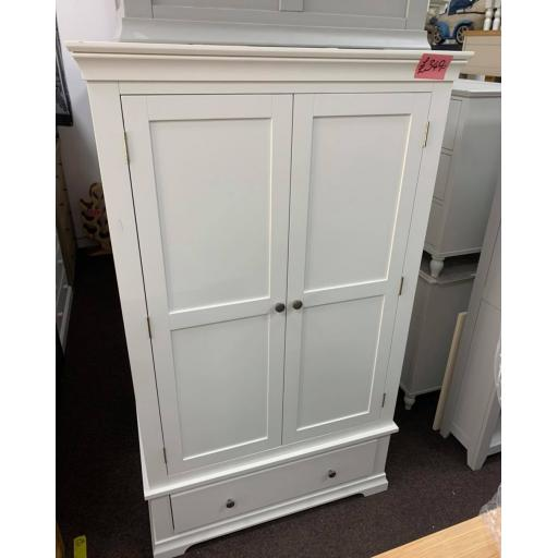 White Double Wardrobe with drawer