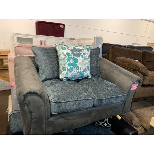 Grey And Charcoal 2 Seater Sofa