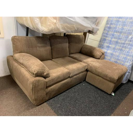 coffee fabric chaise corner sofa