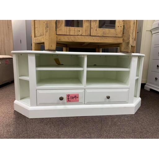 White Corner TV Unit