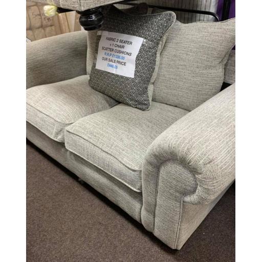 Fabric natural flex 2 seater sofa + 1 chair