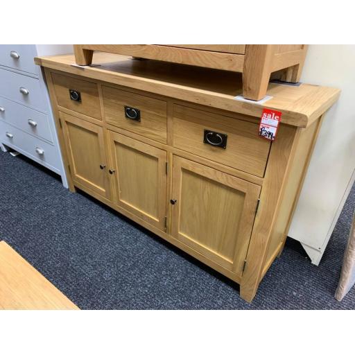 Oak 3 Drawer 3 door Sideboard