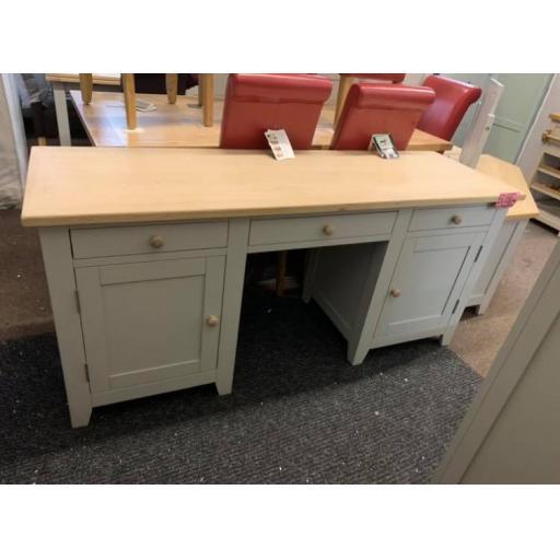 Dove Grey double Pedestal Desk