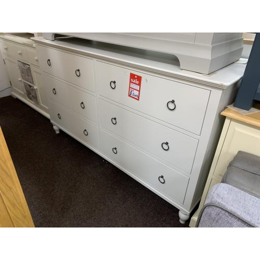 Pale grey low wide merchants chest