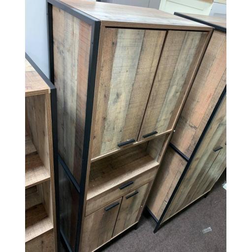 Oak effect storage cupboard