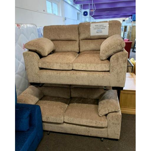 Mink Fabric 3 + 2 seater sofa