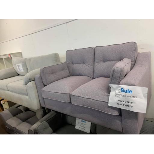 Plum Fabric 2 Seater Sofa
