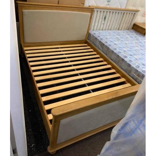 Washed Oak 5 Ft Kingsize Bed Frame Only
