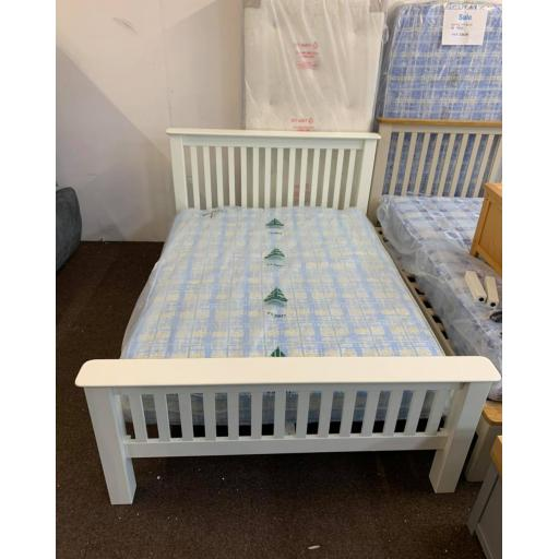 White 5 ft king size bed frame only