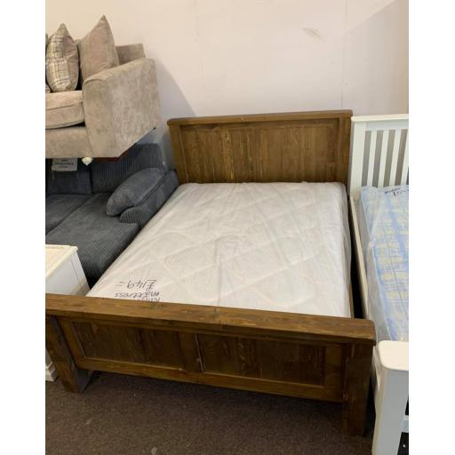 Dark Pine 5 ft King size Bed frame